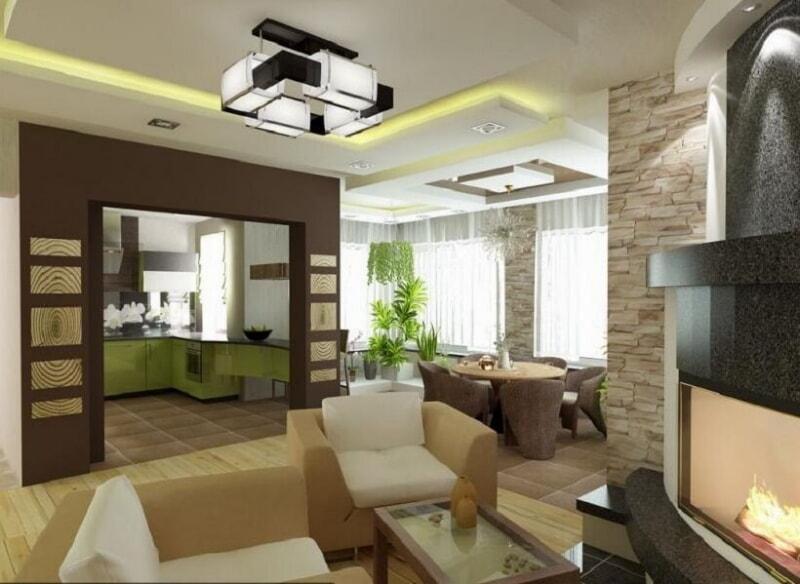 Вдохновляющие идеи дизайна кухни, совмещенной с гостиной