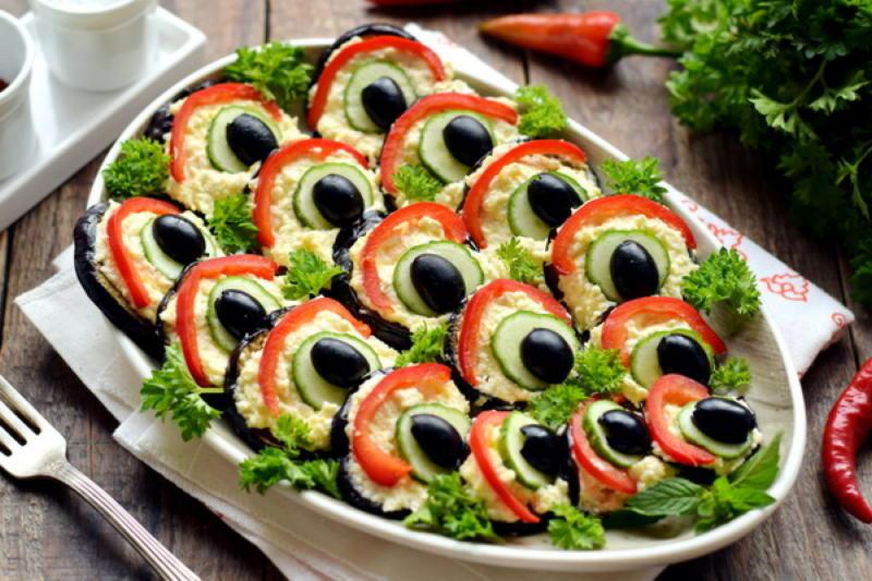 10 оригинальных закусок из баклажанов