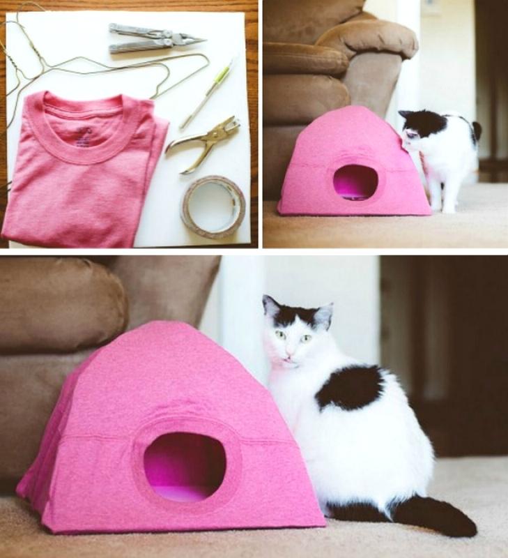 Самодельный кошачий домик