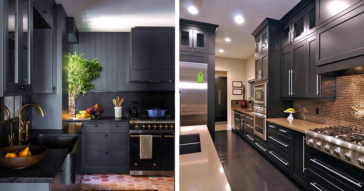 Темная кухня: 20 вариантов с безупречным вкусом